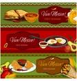 Mexican cuisine restaurant banner set design vector image vector image