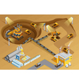 Mining Isometric vector image vector image