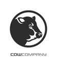 modern cow logo vector image vector image