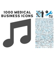 Music Notes Icon with 1000 Medical Business vector image vector image