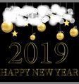 new year 2019 beautiful greeting card with vector image