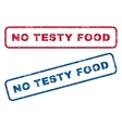 No Testy Food Rubber Stamps vector image vector image