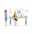 office scene - modern cartoon business vector image vector image
