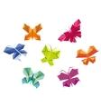 Origami butterflies vector image