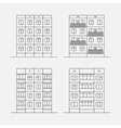 panel houses linear vector image vector image