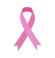 pink ribbon breast cancer medical concept vector image