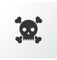 poison icon symbol premium quality isolated skull vector image