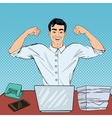Pop Art Successful Multi Tasking Businessman vector image vector image
