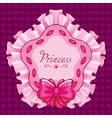 princess star pillow pink vector image vector image