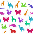 realistic detailed 3d origami paper animals vector image vector image
