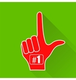 Red Foam Finger Isolated vector image