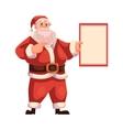 Santa Claus holding a blank board vector image vector image