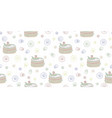 seamless abstract pattern with cake vector image