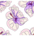 seamless bright summer pattern with different vector image vector image