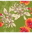 Seamless floral background with petunia vector image