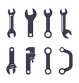 set icons spanners vector image vector image