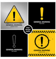 set of general warning symbols vector image vector image