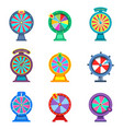 set of isolated wheels of fortune or roulettes vector image vector image