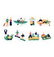 set old people keeping active healthy lifestyle vector image