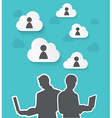 Silhouette Business with cloud vector image