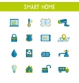 Smart Home Automation Technology Icons Set vector image vector image