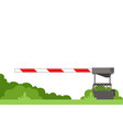 striped automatic barrier prohibits traffic vector image