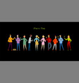 student party with friends funny people vector image vector image