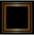 Stylish golden frame vector image