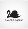 swan logo sign emblem-04 vector image vector image