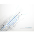 technology network lines background vector image vector image