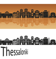 Thessalonik skyline in orange vector image vector image