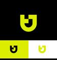 tj logo yellow monogram original symbol vector image vector image