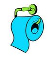 toilet paper icon icon cartoon vector image vector image