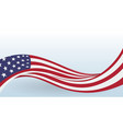 usa waving national flag modern unusual shape vector image