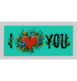 valentines day banner i love you calligraphy vector image vector image