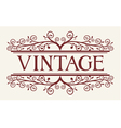 vintage style vector image vector image