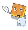 waiter kunafa bake on the character board vector image vector image