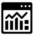 web analytics vector image vector image