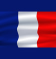 flag of france waving in the wind 3d vector image