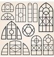 window frames set vector image