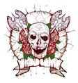 xmass tattoo skull vector image