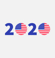 2020 blue red text vote president election day vector image vector image