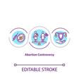 abortion controversy concept icon