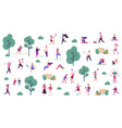 active outdoor lifestyle people healthy lifestyle vector image