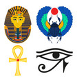 ancient egypt on white vector image vector image