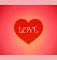 background with heart and caption love vector image vector image