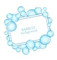 background with soap bubbles vector image vector image