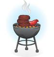 barbecue grill cartoon vector image vector image