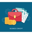 Business flat design concept vector image