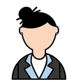 businesswoman elegant isolated icon vector image